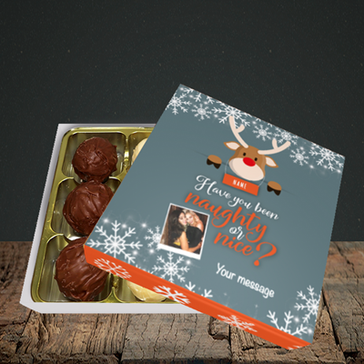 Picture of Naughty, Christmas Design, Choc 9
