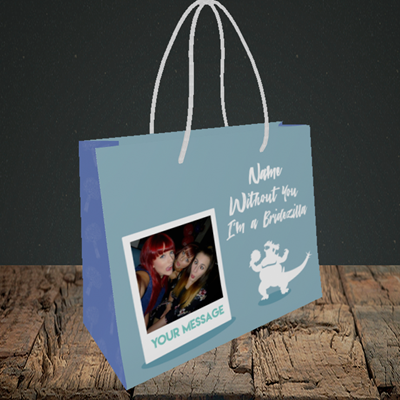 Picture of Bridezilla, Engagement Design, Small Landscape Gift Bag