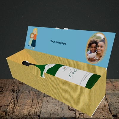 Picture of Mum You're Magic, Mother's Day Design, Lay-down Bottle Box
