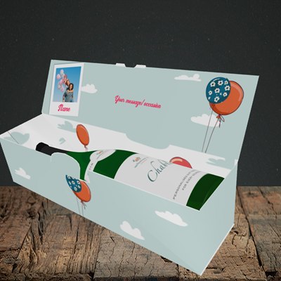 Picture of Fox, Birthday Design, Lay-down Bottle Box