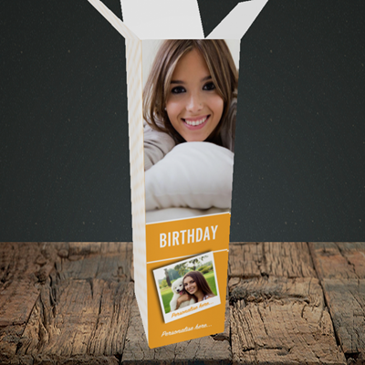Picture of Photo, Birthday Design, Upright Bottle Box