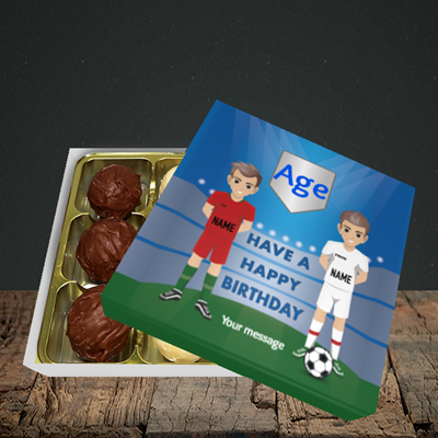 Picture of Football, (Without Photo and editable age) Birthday Design, Choc 9