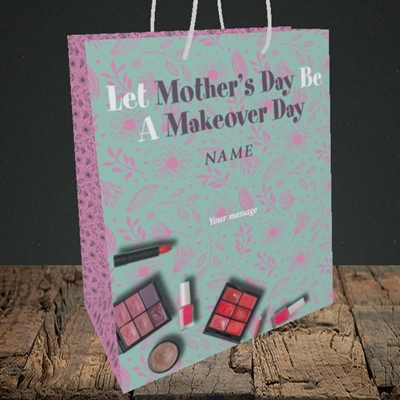 Picture of Makeover Day(No Photo), Mother's Day Design, Medium Portrait Gift Bag