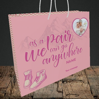Picture of Anywhere, Valentine's Design, Medium Landscape Gift Bag