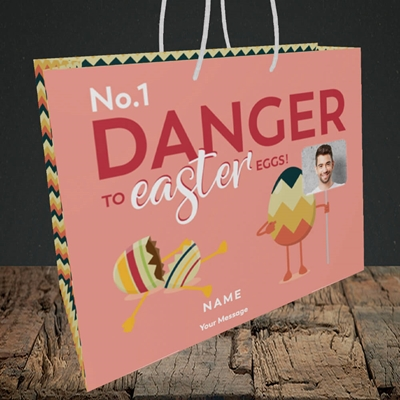 Picture of No.1 Danger, Easter Design, Medium Landscape Gift Bag