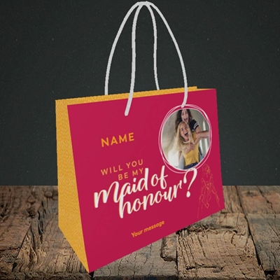 Picture of Maid Of Honour, Wedding Design, Small Landscape Gift Bag