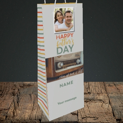Picture of Retro Radio, Father's Day Design, Bottle Bag