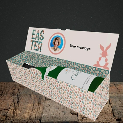 Picture of Pink Bunny, Easter Design, Lay-down Bottle Box