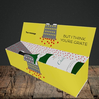 Picture of Cheesy Love(Without Photo), Valentine's Design, Lay-down Bottle Box