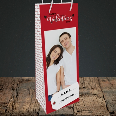 Picture of 1.A Valentine's Large Photo, Valentine's Design, Bottle Bag
