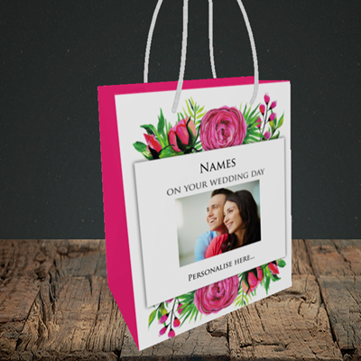 Picture of Flowers, Wedding Design, Small Portrait Gift Bag