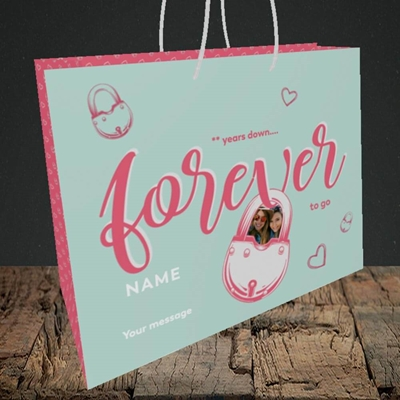 Picture of Forever To Go, Anniversary Design, Medium Landscape Gift Bag