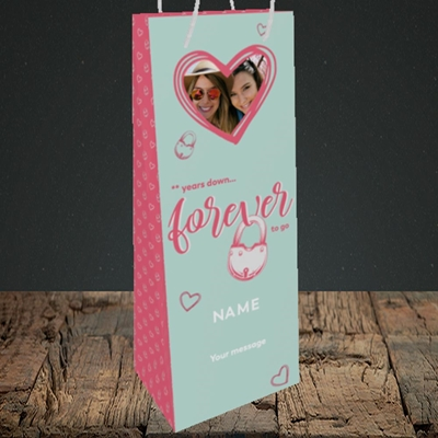 Picture of Forever To Go, Anniversary Design, Bottle Bag