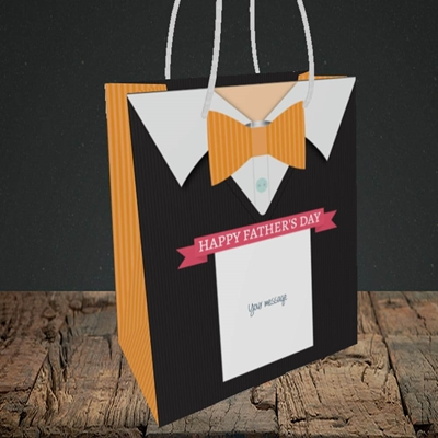Picture of Bowtie(Without Photo), Father's Day Design, Small Portrait Gift Bag
