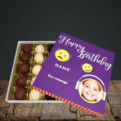 Picture of Smileys, Birthday Design, Choc 25