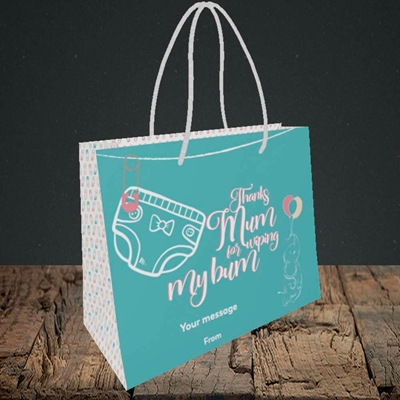Picture of Wiping My Bum(Without Photo), Mother's Day Design, Small Landscape Gift Bag
