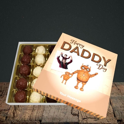Picture of Daddy Robot, Father's Day Design, Choc 25