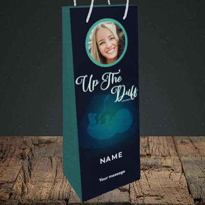 Picture of Up The Duff, Pregnancy Design, Bottle Bag