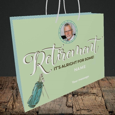 Picture of Retirement Golf, Leaving Design, Medium Landscape Gift Bag