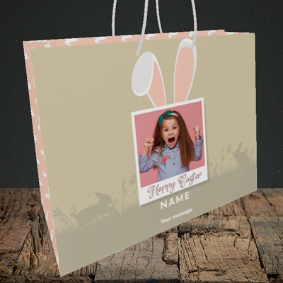 Picture of Hoppy Polaroid, Easter Design, Medium Landscape Gift Bag