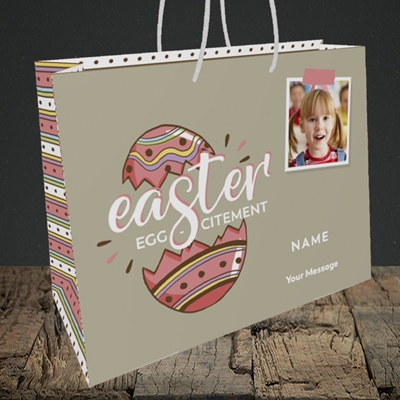 Picture of Egg-citement, Easter Design, Medium Landscape Gift Bag