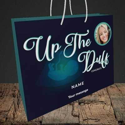 Picture of Up The Duff, Pregnancy Design, Medium Landscape Gift Bag