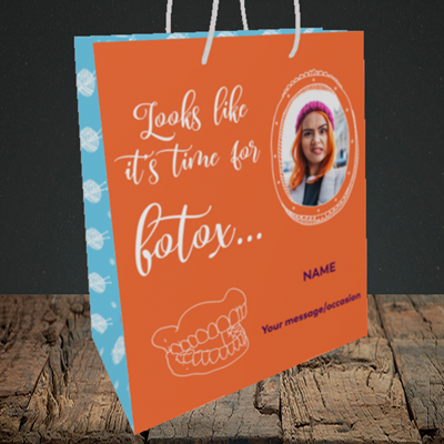 Picture of Botox, Birthday Design, Medium Portrait Gift Bag
