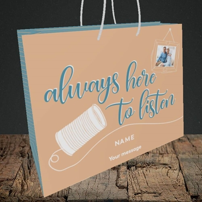 Picture of Always Here, Thinking of You Design, Medium Landscape Gift Bag