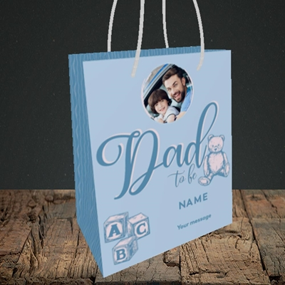 Picture of Dad To Be, Pregnancy Design, Small portrait Gift Bag