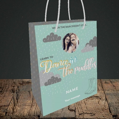 Picture of Puddles, Thinking of You Design, Small Portrait Gift Bag