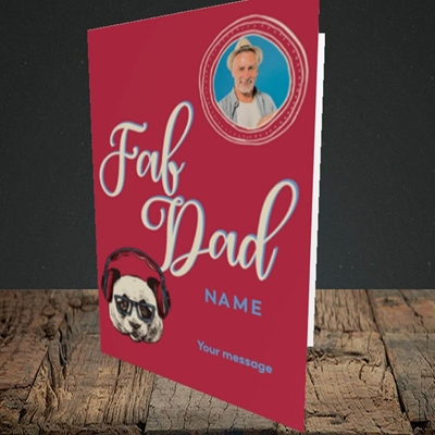 Picture of Fab Dad, Birthday Design, Portrait Greetings Card