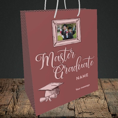 Picture of Master Graduate, Graduation Design, Medium Portrait Gift Bag