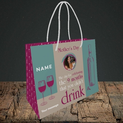 Picture of Didn't Drink, Mother's Day Design, Small Landscape Gift Bag