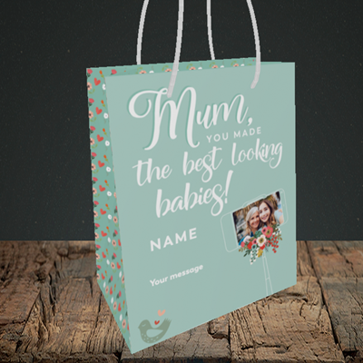 Picture of Best Looking Babies, Mother's Day Design, Small Portrait Gift Bag