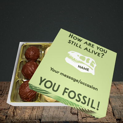 Picture of Fossil, (Without Photo) Birthday Design, Choc 9