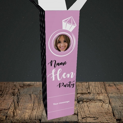 Picture of Hen Party Purple, Wedding Design, Upright Bottle Box