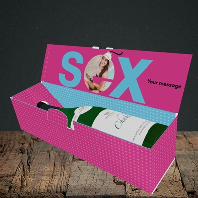 Picture of Sex Bomb - Pink, Valentine's Design, Lay-down Bottle Box