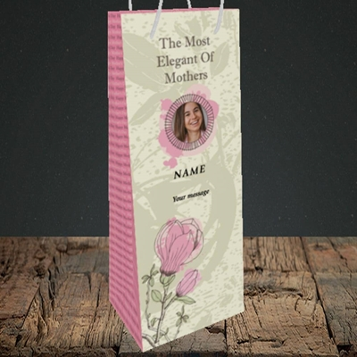 Picture of Elegant Mothers, Mother's Day Design, Bottle Bag