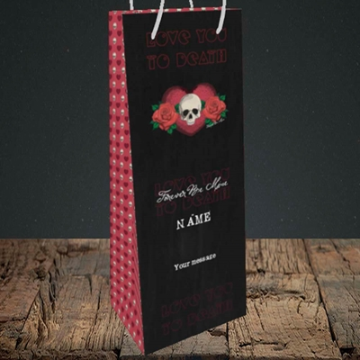 Picture of Love You To Death(Without Photo), Valentine's Design, Bottle Bag