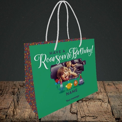 Picture of Roarsome, Birthday Design, Small Landscape Gift Bag