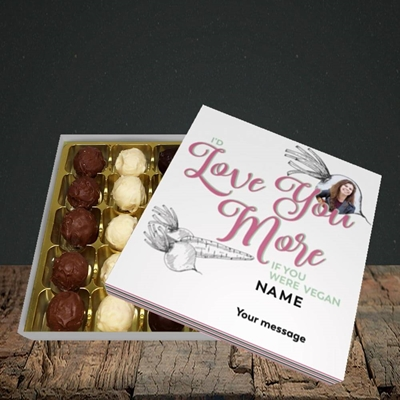 Picture of If You Were Vegan, Valentine's Design, Choc 25