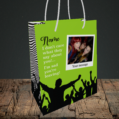 Picture of Crowd, Leaving Design, Small Portrait Gift Bag