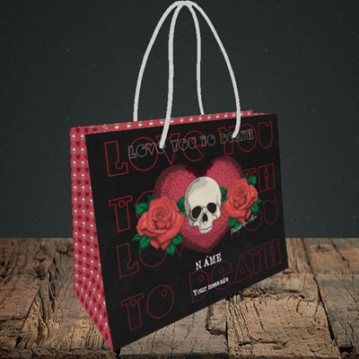 Picture of Love You To Death(Without Photo), Valentine's Design, Small Landscape Gift Bag