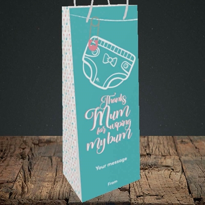 Picture of Wiping My Bum(Without Photo), Mother's Day Design, Bottle Bag