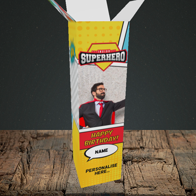 Picture of Comic, Birthday Design, Upright Bottle Box