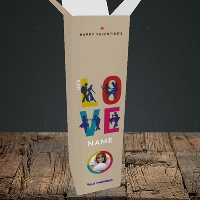 Picture of Let's Love Let's Dance, Valentine's Design, Upright Bottle Box