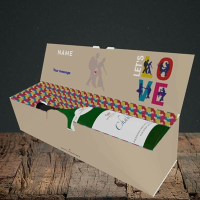 Picture of Let's Love Let's Dance(Without Photo), Valentine's Design, Lay-down Bottle Box
