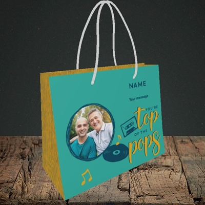 Picture of Top Of The Pops, Father's Day Design, Small Landscape Gift Bag