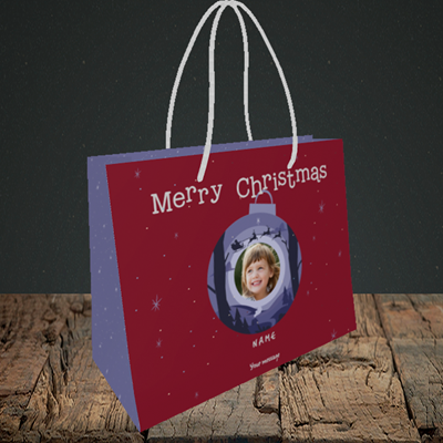 Picture of Bauble Scene, Christmas Design, Small Landscape Gift Bag