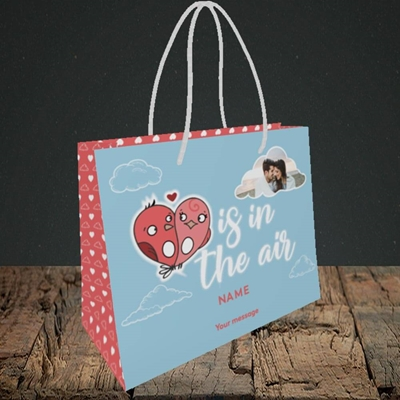 Picture of Love Is In The Air, Valentine's Design, Small Landscape Gift Bag